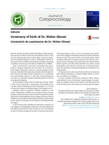 Centenary of birth of Dr. Walter Ghezzi - Journal of Coloproctology