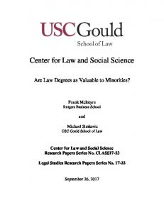 Center for Law and Social Science - SSRN papers