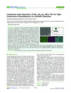 Centimeter-Scale Deposition of Mo0.5W0.5Se2 ... - ACS Publications