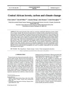 Central African forests, carbon and climate change