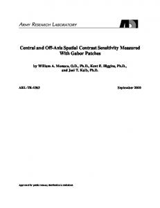 Central and Off-Axis Spatial Contrast Sensitivity Measured With Gabor ...