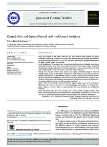 Central Asia and Japan bilateral and multilateral relations