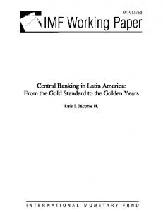 Central Banking in Latin America - IMF