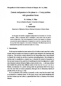 Central configuration in the planar n + 1 body problem ... - CiteSeerX