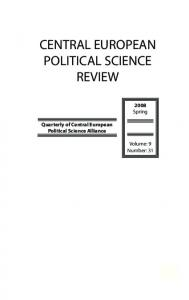central european political science review