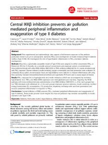 Central IKK   inhibition prevents air pollution mediated ... - Deep Blue