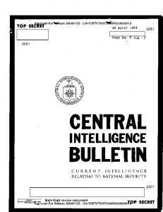 CENTRAL INTELLIGENCE BULLETIN - CIA FOIA