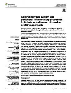 Central nervous system and peripheral ... - Semantic Scholar