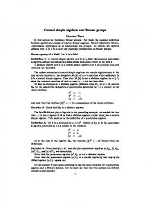Central simple algebras and Brauer groups