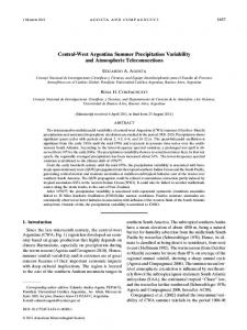 Central-West Argentina Summer Precipitation Variability and ...