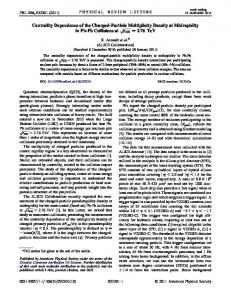 Centrality Dependence of the Charged-Particle ... - APS Link Manager