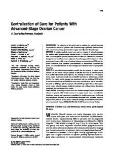 Centralization of care for patients with advanced ... - Wiley Online Library