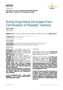 Centralization of Hospitals' Inventory