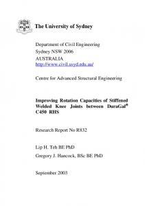 Centre for Advanced Structural Engineering - Faculty of Engineering ...