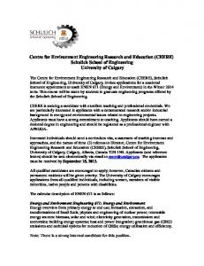 Centre for Environment Engineering Research and Education ...