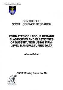 centre for social science research estimates of labour demand ... - Core