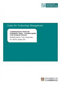 Centre for Technology Management - Institute for Manufacturing