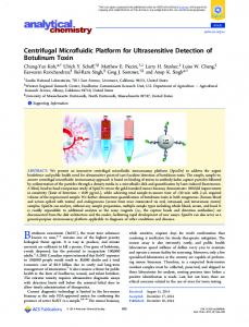 Centrifugal Microfluidic Platform for Ultrasensitive ... - ACS Publications