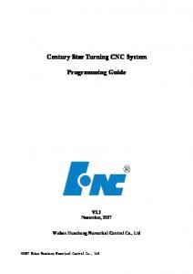 Century Star Turning CNC System Programming Guide