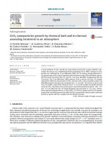 CeO2 nanoparticles growth by chemical bath and ... - ScienceDirect.com
