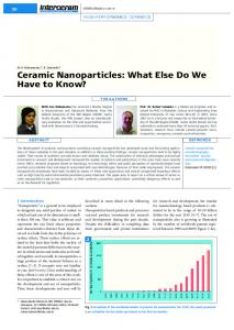 Ceramic Nanoparticles: What Else Do We Have to ...