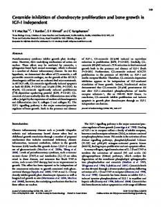 Ceramide inhibition of chondrocyte proliferation and bone growth is ...