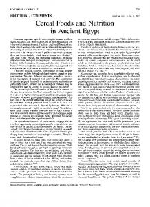 Cereal Foods and Nutrition in Ancient Egypt - Ancientgrains.org