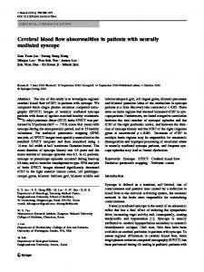 Cerebral blood flow abnormalities in patients with ... - Springer Link