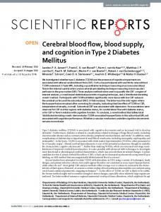 Cerebral blood flow, blood supply, and cognition in ... - Semantic Scholar