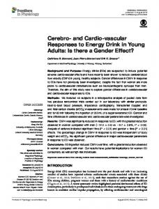 Cerebro- and Cardio-vascular Responses to