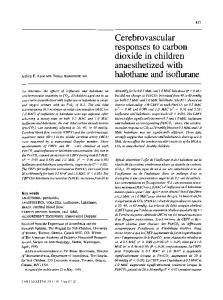 Cerebrovascular responses to carbon dioxide in ... - Springer Link