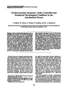 Cerebrovascular Responses Under Controlled and