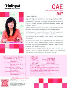 Certificate in Advanced English - Inlingua