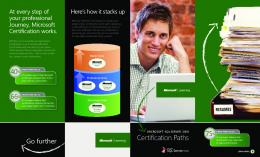 Certification Paths - Microsoft Download Center