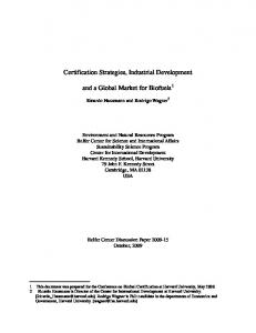 Certification Strategies, Industrial Development ... - Semantic Scholar
