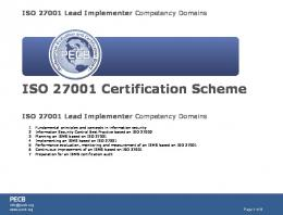 ISO 27001 Lead Implementer Instructor Guide - ITpreneurs