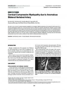 Cervical Compressive Myelopathy due to