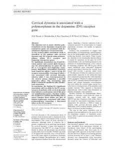 Cervical dystonia is associated with a polymorphism in ... - Europe PMC