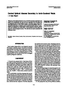 Cervical Epidural Abscess Secondary to Aorto ... - KoreaMed Synapse