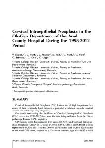 Cervical Intraepithelial Neoplasia in the Ob-Gyn ...