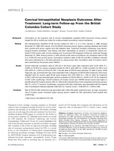 Cervical Intraepithelial Neoplasia Outcomes After ... - Semantic Scholar