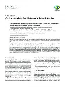 Cervical Necrotizing Fasciitis Caused by Dental Extraction