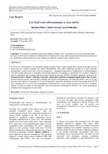 Cervical root schwannoma: a case series - International Journal of
