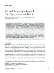 Cervical screening in England - Wiley Online Library