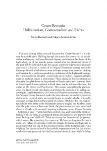 Cesare Beccaria: Utilitarianism, Contractualism and Rights