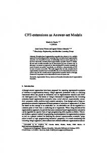 CF2-extensions as Answer-set Models