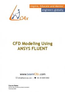 CFD Modeling Using ANSYS FLUENT
