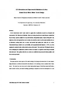 CFD Simulation and Experimental Validation of a ...