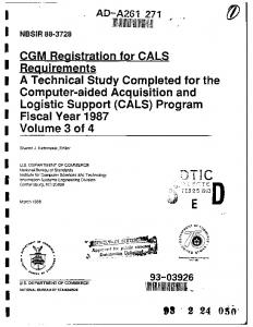CGM Registration for CALS D - Defense Technical Information Center
