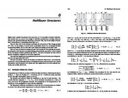 Ch.6: Multilayer Structures